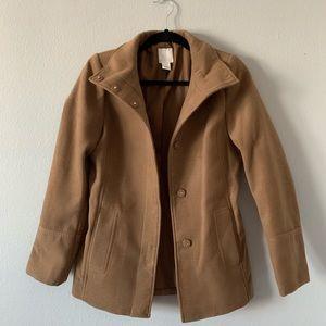 H&M Brown Wool Blend Coat